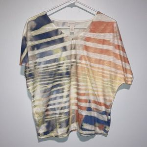 Chico's tie dye top Size 1